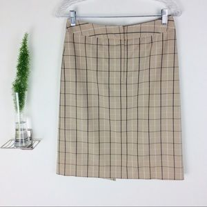 VTG Ann Taylor Pretty Checkered Skirt Size (2)